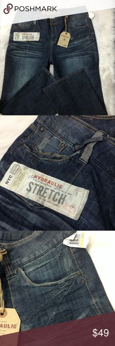 "H Y D R A U L I C. Jeans H Y D R A U L I C. Jeans | waist 43"", front rise 12"", length 33"" Hydraulic Jeans"