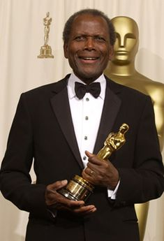 """Sidney Poitier recieved an Academy Honorary Award, """"for his extraordinary performances and unique presence on the screen and for representing the industry with dignity, style and intelligence""""."""