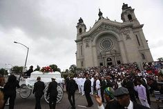 """In remarks at the beginning of the service, Auxiliary Bishop Andrew Cozzens said that """"we stand together as brothers and sisters before our loving God united in prayer,"""" and linked the funeral to the Year of Mercy."""