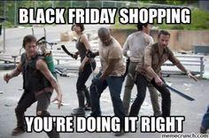 The Walking Dead funny meme. Black Friday
