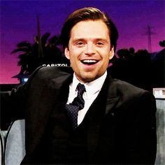 """Photo of Sebastian Stan for fans of Sebastian Stan. After he's called """"cute"""" on the Late Late Show with James Corden"""