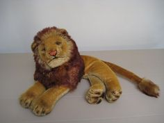 In my #ETSY Shop: #Steiff Vintage Leo Lion Loewe - Lying Position - Majestic Beast - 6 Inches Tall and 11 Inches Long