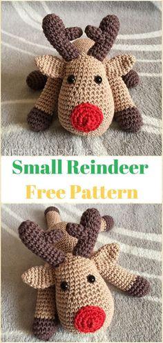 Crochet Small Reindeer Softies Free Pattern - Crochet Amigurumi Deer Toy Softies Free Patterns