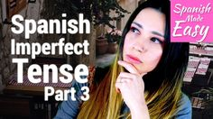 "Hello everyone, in today's lesson we will learn the last thing about ""El pretérito imperfecto"". This is part 3 out of 3 lessons. We will learn how to conjuga. Spanish Verb Tenses, Imperfect Spanish, Spanish Lessons, Breastfeeding, Im Not Perfect, Pregnancy, Youtube, Drink, Baby"