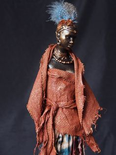 Most of the sculptures shown are completed using a textile hardener, Powertex. Refer to the Powertex page for product information. Textile Sculpture, Sculpture Art, Sculpture Ideas, Black Figurines, African Sculptures, Black Women Art, African American Art, Statue, Faeries