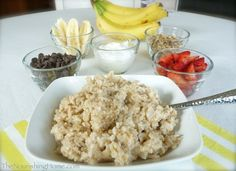 Treat your family to a delicious and healthy way to start the day! In less than 10 minutes, you can whip up a super fun Banana Split Breakfast Buffet that will fill your home with lots of festivity… Healthy Foods To Eat, Easy Healthy Recipes, Whole Food Recipes, Eating Healthy, Clean Eating, Breakfast Buffet, Breakfast Recipes, Breakfast Ideas, Granola Cereal