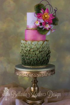 Enchanted Pink Lotus - Cake by Bellaria Cakes Design (Riany Clement)