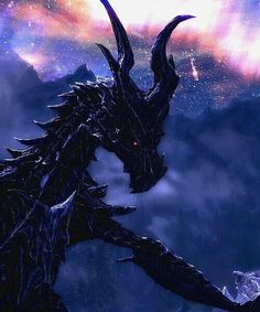 You know, for an ultimate evil, megalomaniacal, world eating dragon, he sure is a gorgeous one! Elder Scrolls Games, Elder Scrolls V Skyrim, Fantasy Dragon, Dragon Art, Fantasy Creatures, Mythical Creatures, Skyrim Dragon, Dragonborn Skyrim, Dragons