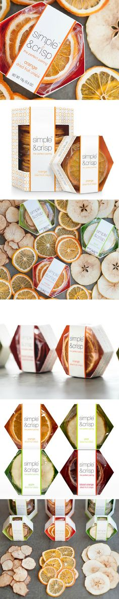 Simple & Crisp, gluten free dried fruit ,serves as healthy alternative to crackers. Packaging by Creative Retail Packaging  #foodpackaging #packaging