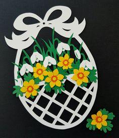 """Model fra min bog :""""Påsken i papir, pynt og perler"""" Paper Flowers Craft, Flower Crafts, Paper Crafts, Valentine's Day Crafts For Kids, Mothers Day Crafts, Art N Craft, Easter Crafts For Kids, Perler, Spring Crafts"""