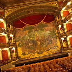 Theatro da Paz (Peace Theater) Belém, Brazil. Stage.