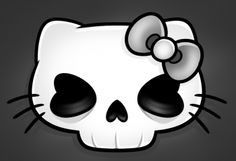 How to Draw a Hello Kitty Skull, Hello Kitty Skull, Step by Step, Skulls, Pop Culture, FREE Online Drawing Tutorial, Added by Dawn, May 7, 2013, 6:40:44 am