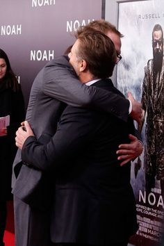 Russell Crowe and Paul Bettany at the Noah premiere in NYC