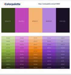 Purple Color Schemes, Purple Color Palettes, Red Colour Palette, Color Combos, Green Colors, Lavender Color, Luxor, Color Pallets, Olive Colour
