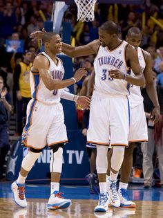 Kevin Durant Russell Westbrook... OKC' s one-two punch.