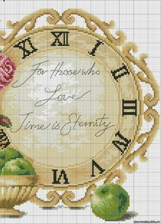 Cross-stitch For Those Who Love Clock-face, part 2 ... no color chart, just use pattern chart colors as your guide.. or choose your own colors...   Gallery.ru / Фото #1 - . - irisha-ira