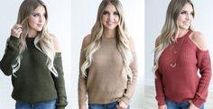 Cozy Cold Shoulder Sweater   Jane