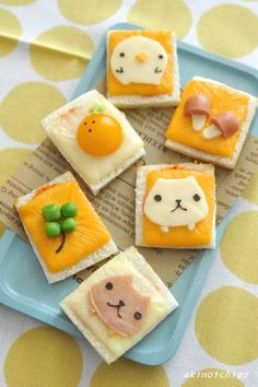 2015年11月 わくわくキャラクター弁当 Cute Food, Good Food, Yummy Food, Bento Recipes, Baby Food Recipes, Fun Foods To Make, Kawaii Cooking, Kawaii Dessert, Food Art For Kids