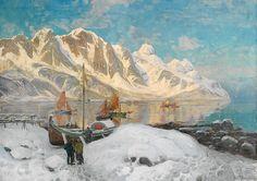 Thorolf Holmboe 1866-1935: Fiskevær i Lofoten