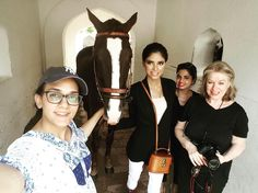 Shooting today with these beauties @cecily.clune @maham.ali9259  #horse #maramaabroo #cecilyclune  #fashion #bags #editorial #makeup @aabroohashimi
