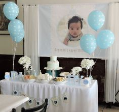 Aunt's 100th Day Party Main Table For Her Nephew