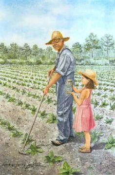 tobacco farming art prints   FARM PRINTS BY DONA AND JERRYLOCKLAIR
