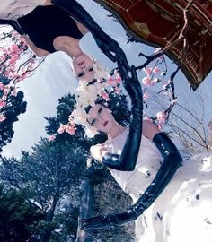 "Dreaming of Dior: ""Fashion in Full Bloom"" Alexa Yudina and Nora Vai for Mojeh #26 April 2015"