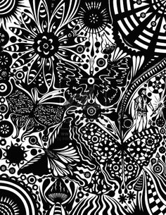 Sudden Stare by inthename on DeviantArt Zen Doodle, Doodle Art, Aestheticly Pleasing, Coloring Pages, Colouring, Adult Coloring, Cool Doodles, Doodles Zentangles, Illusion Art