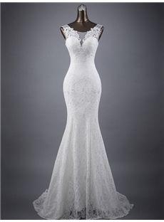Scoop bodenlangen natural trumpet / mermaid returns / brushes hourglass sleeveless spring wedding dress