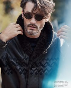 Ben Hill is a chic winter vision for Luxury magazine.