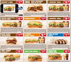 VOUCHER SAVING  Burger King Printable Retweetable  Vouchers valid until 2nd March 2015