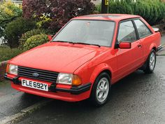 eBay: 1983 Ford Escort XR3i 1.6 MK3i in red, fully serviced, new cambelt #classiccars #cars
