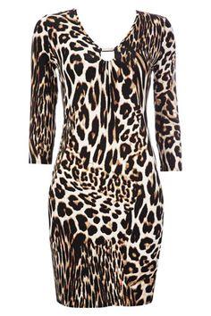 Petite Animal Print Dress