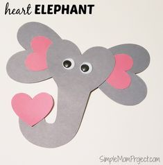 art for kids See this post for a FREE printable template to make your own Valentines Day Elephant! This simple DIY Elephant Valentines Day card is an easy craft for toddlers, big kids and adults to make. Great for classroom Valentines Day art projects. Arts And Crafts Storage, Arts And Crafts For Teens, Art And Craft Videos, Arts And Crafts Furniture, Valentine's Day Crafts For Kids, Easy Arts And Crafts, Toddler Valentine Crafts, Easy Toddler Crafts, Toddler Art Projects