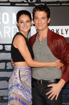 Shailene Woodley and Miles Teller. The Spectacular Now and Divergent.