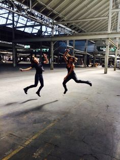 Elizabeth Henstridge and Chloe Bennet behind the scenes of Season 4 of Marvel's Agents of S.H.I.E.L.D.