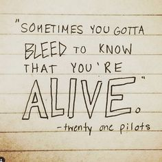 its true for some people but just know i can pinch you to make you feel alive it's still feeling I <3 YOU GUYS
