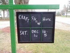 Old Window Chalkboard Sign