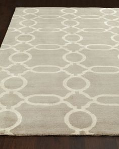 Ogee Chain Rug at Horchow.
