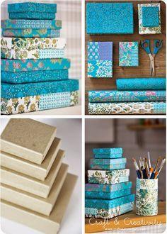 DIY Schachteln, Kisten und Boxen mit Papier oder Stoff beziehen