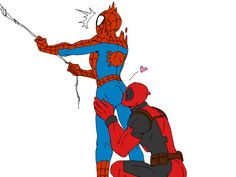Spiderman x Deadpool   fuckyesdeadpool: DWA&デプスパ by 笑死