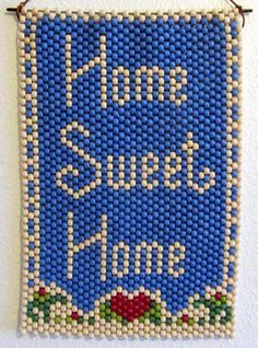 My first beaded banner (using pony beads).