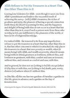 To whom does Allah give the greatest treasures of the heart and a garden of Paradise in this world?