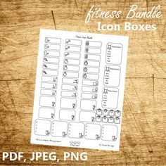 Fitness Bundle - Free Bullet Journal and Planner Printable from 3yearsapart
