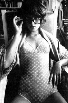 Uschi Obermaier by Jeanloup-Sieff for Vogue Italia, 1972 // Learn about  the History of '70s Boudoir on the blog!