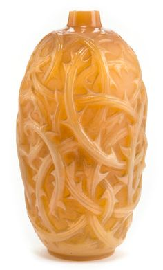 Circa 1921  Molded: R. LALIQUE  Engraved: Lalique  9-1/2 inches high