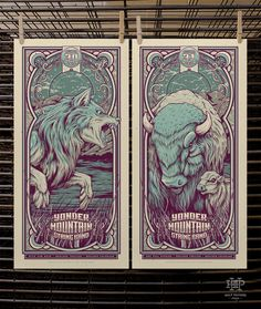 Half Hazard Press has another great batch of Yonder Mountain String Band posters up for sale right now. These are 12.5″ x 25″ screenprints, have AP editions of 25, and cost $40 each. There are also some great metallic variants available.