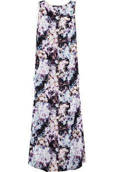 Theyskens' Theory, Dlilac printed stretch-silk maxi dress. Stunning on!