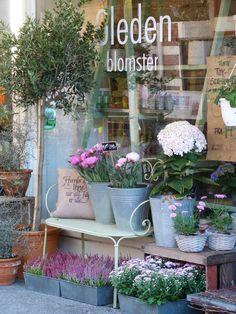 Pretty florist shop window in Kristiansand, Norway