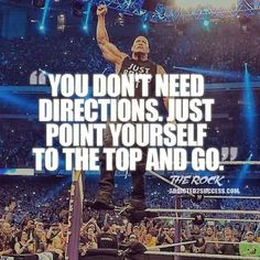 "Dwayne Johnson aka ""The Rock"" is a huge inspiration to millions world-wide. Here are some of the best motivational picture quotes and sayings by Dwayne Johnson. Wwe Quotes, Rock Quotes, Motivational Picture Quotes, Quotes To Live By, Inspirational Quotes, Qoutes, Wrestling Quotes, Dwayne Johnson Quotes, The Rock Dwayne Johnson"